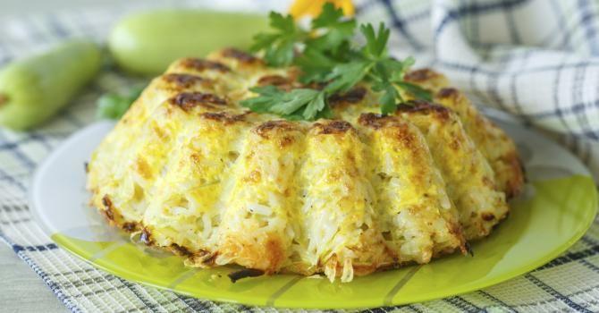 Recette de Flan de courgettes et riz. Facile et rapide à réaliser, goûteuse et diététique. Ingrédients, préparation et recettes associées.
