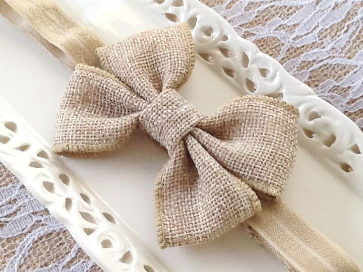 New Listing! Girls Burlap Bow Headbands by CLBBoutique via @Etsy http://etsy.me/1MvrCD0 via @Etsy #etsyshop #burlap #headbands