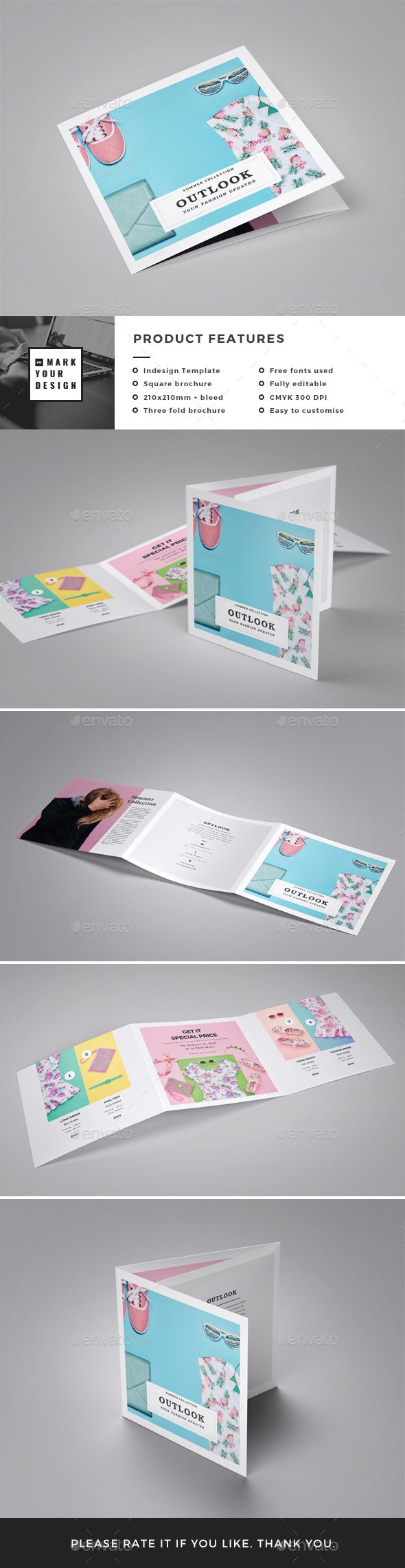 Fashion Square Brochure  —  InDesign Template • Only available here! →…