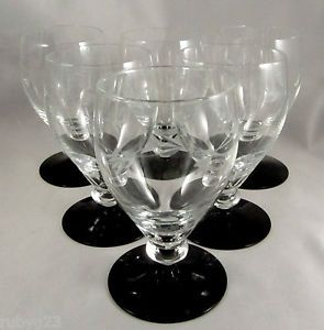 Holmegaard wine glasses with black glass bases... so Deco and so beautiful!