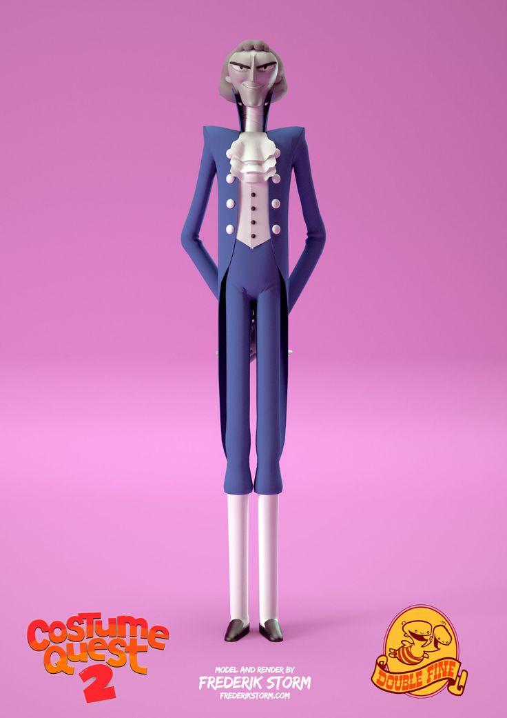 ArtStation - Jefferson - Costume Quest 2, Frederik Storm