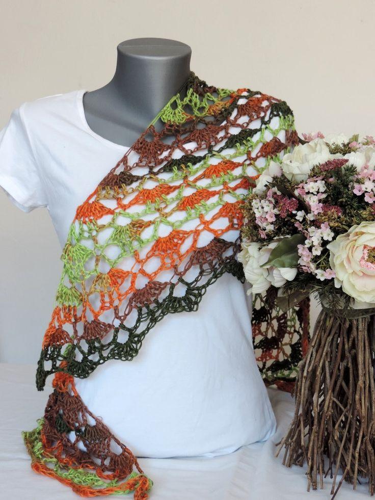 Scarf, shawl, multicolor scarf, shawl by ColorfullmadeShop on Etsy