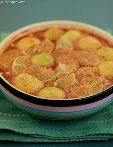Sweet Lemon Pickle recipe | Lemon Pickle Recipes | by Tarla Dalal | Tarladalal.com | #3420