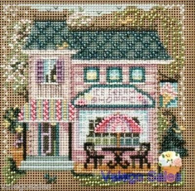 Mill Hill Beads Buttons Counted #cross stitch  ICE CREAM SHOPPE