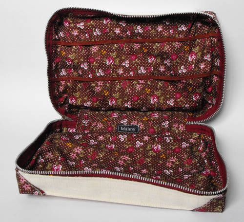 Sewing bag - zip case with pattern  tutorial - PURSES, BAGS, WALLETS