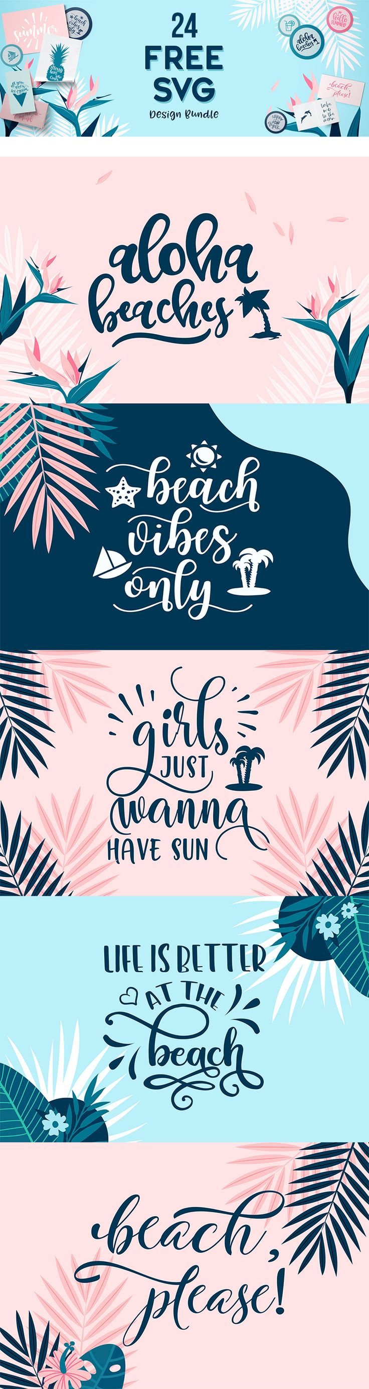 The FREE SVG Design Pack! Download 24 free beachy file before it's gone!