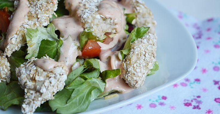 Krokante kip salade - Miss Craftsy