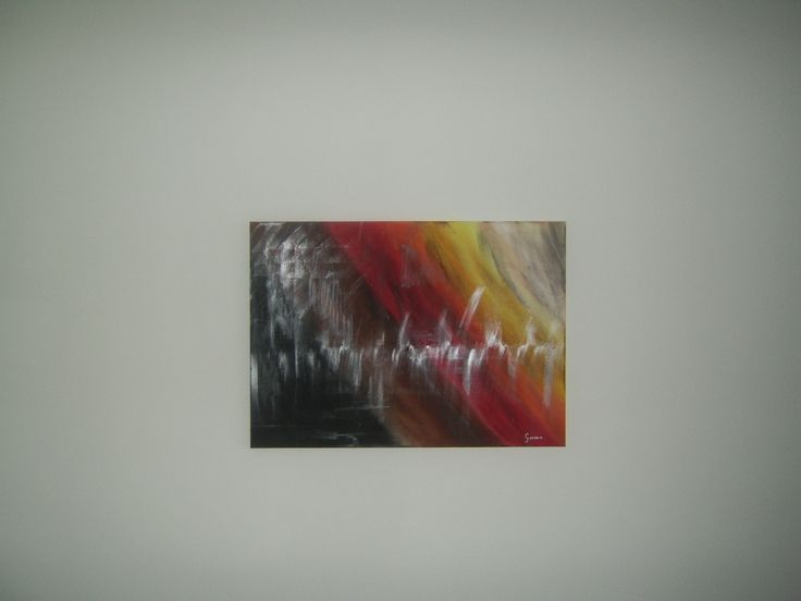 My first abstract painting.
