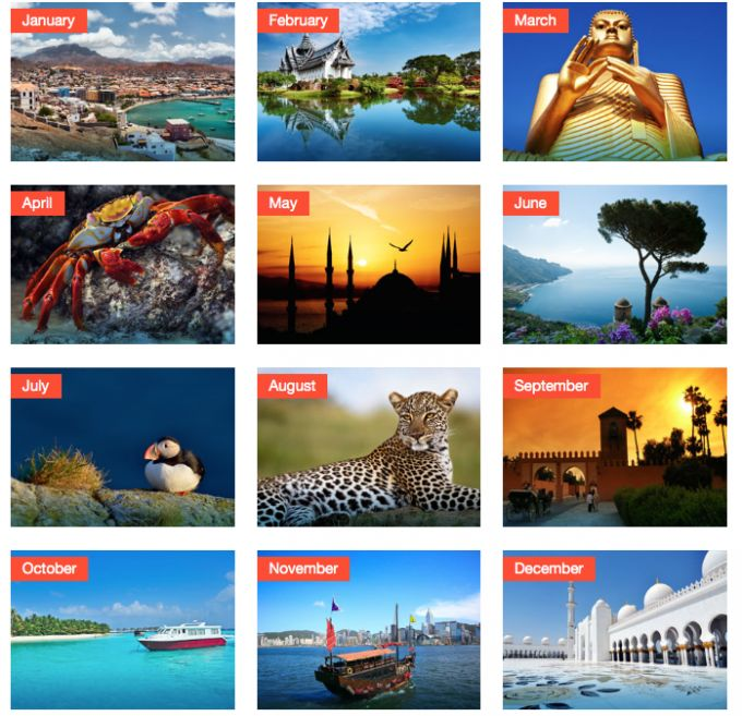 One to bookmark for holiday planning! Which countries are hot in which months? Get guaranteed sunshine...