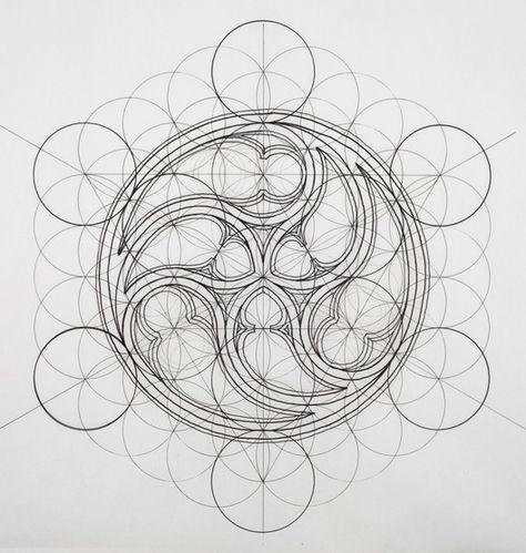 Rafael Araujo fusiona el arte y la ciencia ilustrando a mano la Proporción Áurea,Cortesía de Rafael Araujo