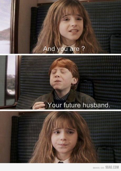 LOL YES! <3First Impressions, Funny Pictures, Harry Potter Memes, Harry Potter Funny, Emma Watson, Future Husband, Ron Weasley, Harry Potter Humor, Funny Harry Potter