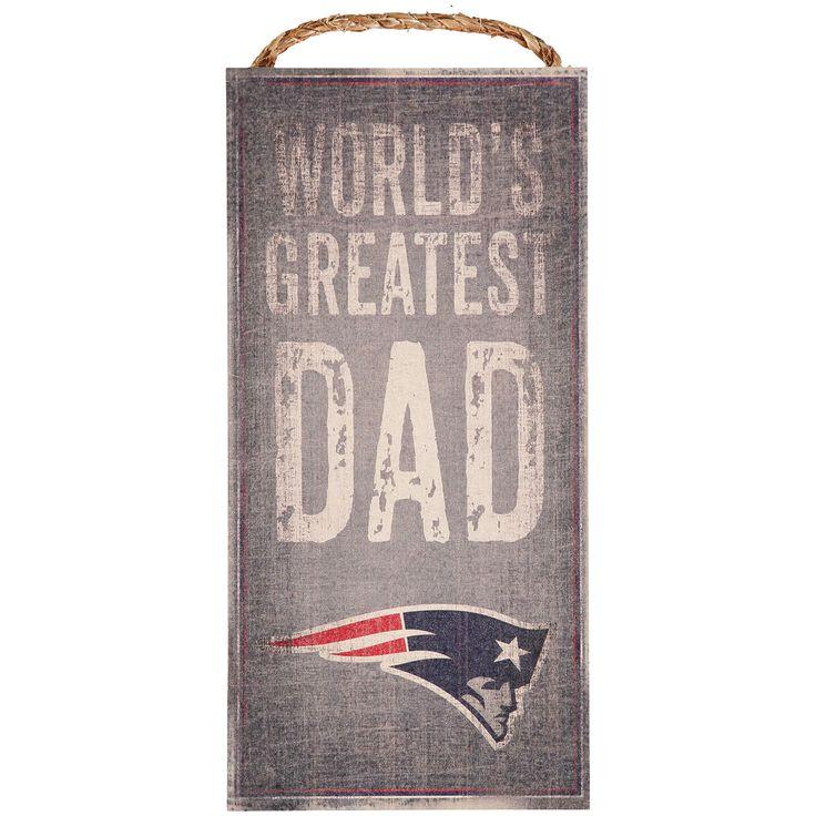 "New England Patriots 6"" X 12"" World's Greatest Dad Sign - $10.39"