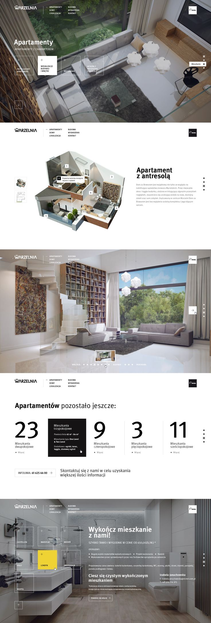 Web Desgn Like The Photo Style And Screen Break Up Of Photographic White Informational Chunks New Warzelnia By Micha Jakobsze Via Behance