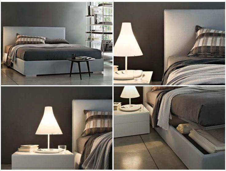 Camille di Officinadesign Lema è un letto imbottito completamente sfoderabile rivestito in pelle o in tessuto per una stanza da letto dallo spirito senza tempo.... #serata #piovosa #relax #letto #camille #lema #rossimobili #botticino