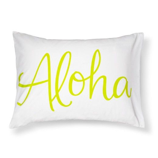 Your child can dream of tropical breezes and surfing a wave on the Aloha Standard Pillowcase in White from Pillowfort. This kids' pillowcase comes in a standard size to fit beds from twin to full to double. With a great look for either a boy's or girl's room, this pillowcase will make them eager to crawl into bed and rest their head.