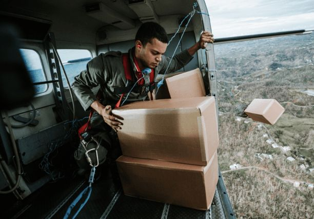 """LA UAV Start Up Obtains FAA Clearance to Provide Relief to Puerto Rico The drops in Puerto Rico use a parachute design. Going forward, this system will use a UAV that can be launched from a plane. As Mr. Ifill wrote in an email, """"To do a cargo drop takes a team. Hogar Crea and The Minnesota Alliance of Communities for ... #uav http://readr.me/06su5"""