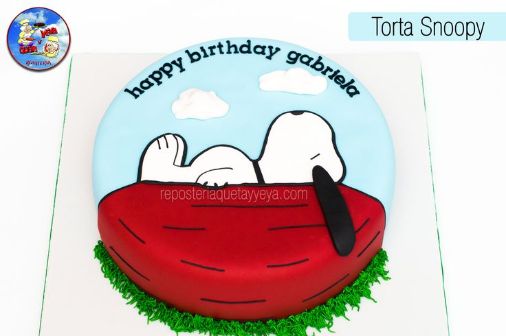 Snoopy Birthday Joe Cake