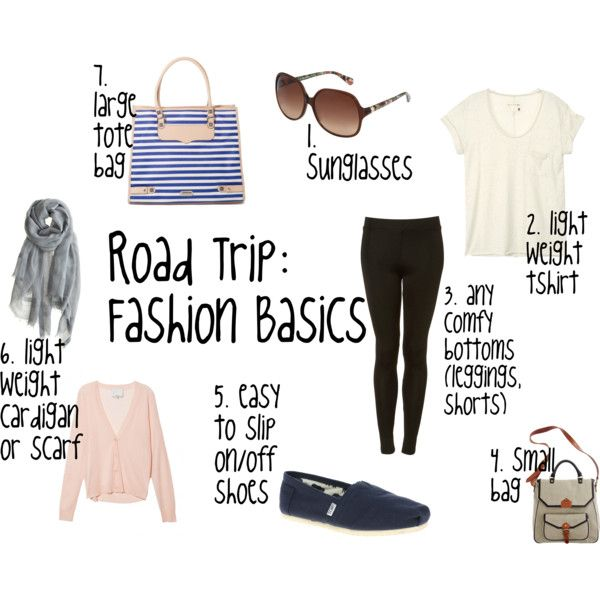 Road Trip Fashion Basics, created by lacey-kay