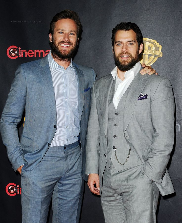 Henry Cavill and Armie Hammer attended CinemaCon, the official convention of the National Association of Theatre Owners, at Caesars Palace in Las Vegas, Nevada on April 21, 2015.