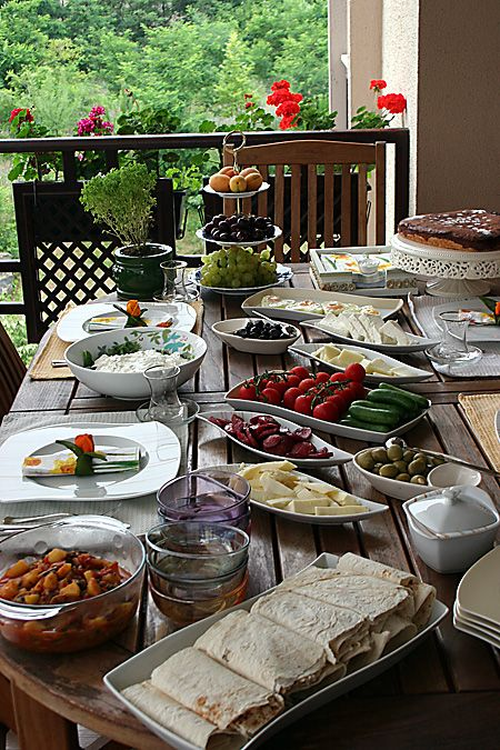 Turkish Breakfast - best meal of the day when shared with friends.