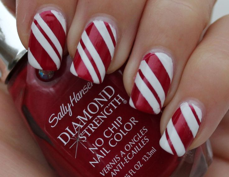 Best 25 candy cane nails ideas on pinterest christmas nail candy cane nails prinsesfo Choice Image
