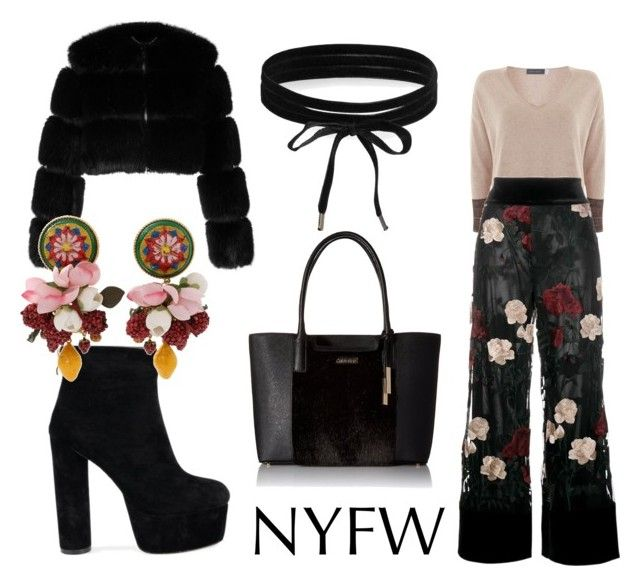 """#nyfw"" by hajer-bh ❤ liked on Polyvore featuring Mint Velvet, Ganni, Calvin Klein, Givenchy, Boohoo and Dolce&Gabbana"