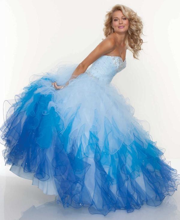 New Senior Prom Quinceanera Blue Ball Gown Graduation Party Evening Dress Custom