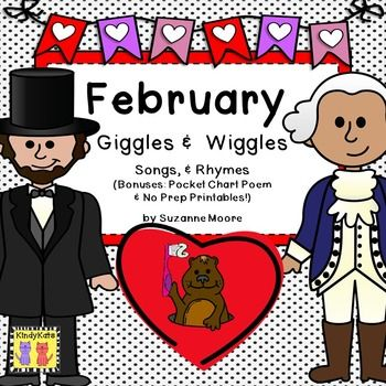 February Songs, Poems, Fingerplays - Groundhog, Presidents