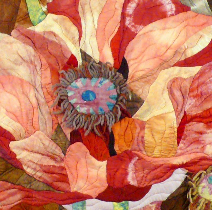 Lin Hsin-Chen : Fiber Artist, flower art quilt