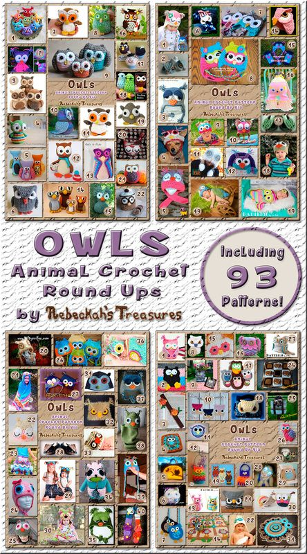Hoot, hoot! Owl Round Ups by @beckastreasures | 93 patterns – 39 designers including @TriflsNTreasurs @FreshStitches @RepeatCrafterMe & more!