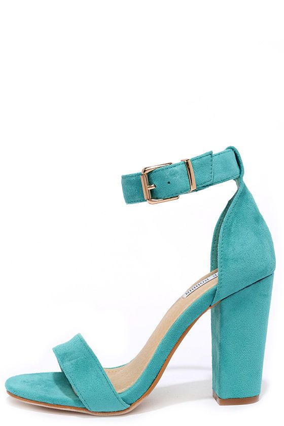 We know you've got at least one occasion coming up, so opt for the Formal Opinion Turquoise Suede Ankle Strap Heels! These basic beauties have a soft, vegan suede toe strap and adjustable ankle strap (with gold buckle).