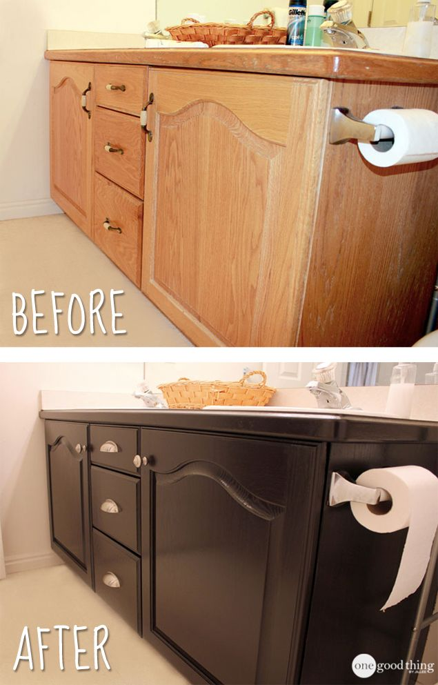 Give Your Bathroom Vanity A Facelift - One Good Thing by Jillee