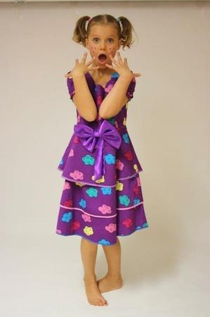Lilla pen kjole