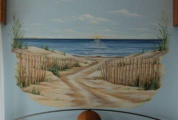 beach mural - Google Search