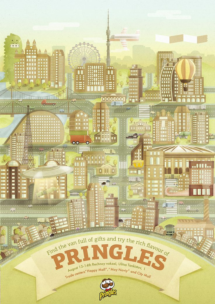 "Poster "" The Pringles Gift Van"" on Behance"
