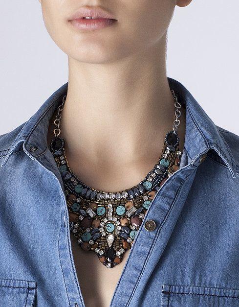Collar abalorios | SHOP ONLINE SUITEBLANCO.COM