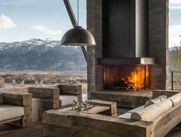 La maison familiale et rurale dans 49 images d'intérieur. | Chalet en bois habitable, Chalet ...