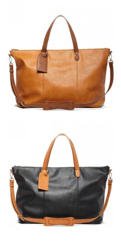 Classic oversized travel tote | Sole Society Candice