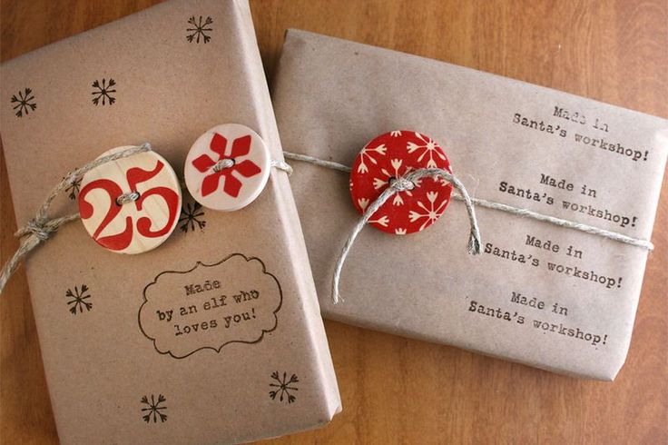 Buttons.Twine.Kraft.Stamps | Cosmo Cricket Gift Wrapping