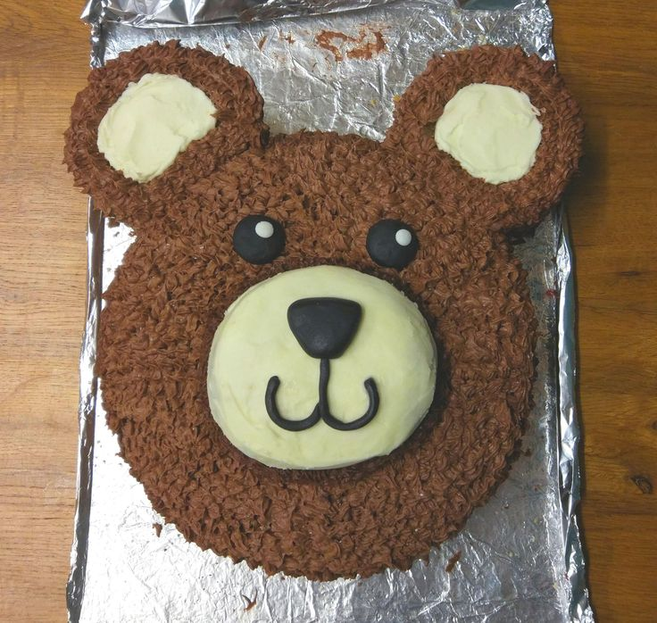 Such an easy cake to make! Adding melted chocolate to the butter cream is a must for that fur look. Perfect for a Teddy Bear Picnic!
