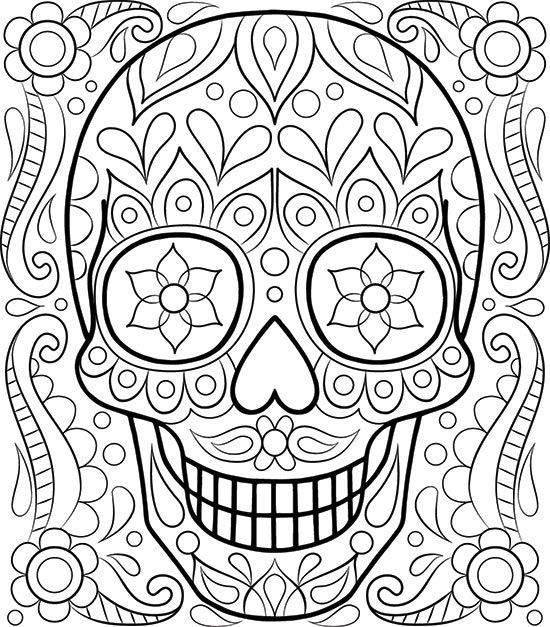 free sugar skull coloring page by thaneeya mcardle davlin publishing adultcoloring free adult coloring pagesfree - Color Pages For Adults
