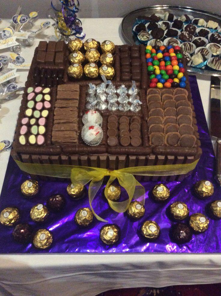 21st Chocolate Cake Box