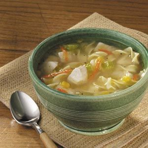 Amish Chicken Corn Soup This one is easy and really yummy.  Enough for leftovers even with my big family!