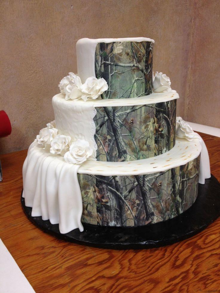 Camo Cake wedding ideas Pinterest
