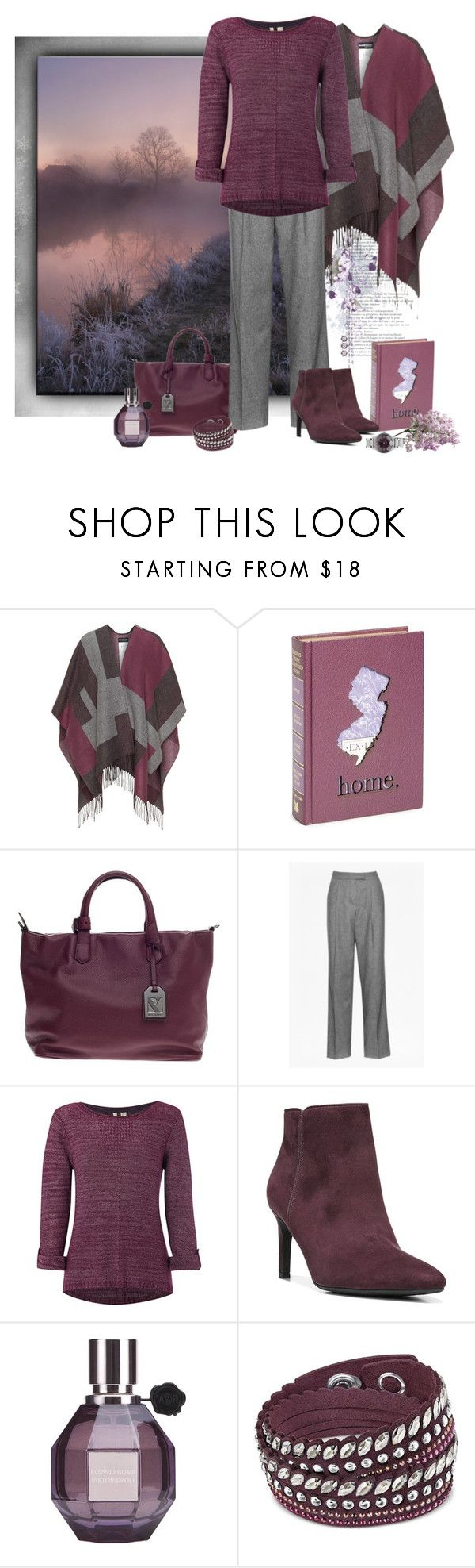 """""""Gray & Plum"""" by love-n-laughter ❤ liked on Polyvore featuring Samoon, Second Nature By Hand, Reed Krakoff, White Stuff, Circus by Sam Edelman, Viktor & Rolf, Swarovski and Nixon"""