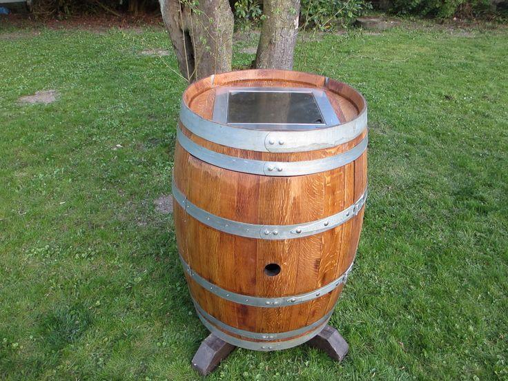 DIY Wine barrel Furniture, Weinkühler im Weinfaß