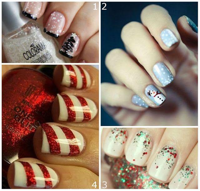 Valens... per voi: 4 Quick #Christmasmanicures