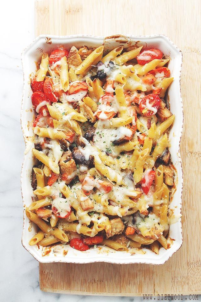 Chicken and Vegetables Pasta Bake is a favorite and easy chicken, vegetable and pasta dish, featuring beautiful colors and amazing flavor! | #recipe #pasta #chicken