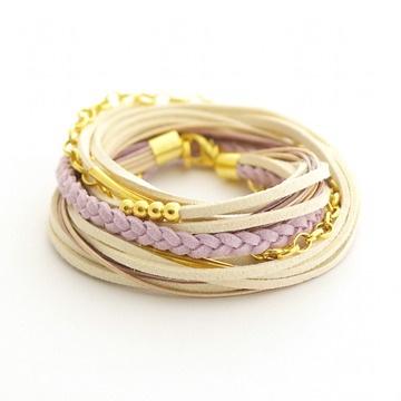 ブレスレット / Violet Golden Beads by Agnieszka