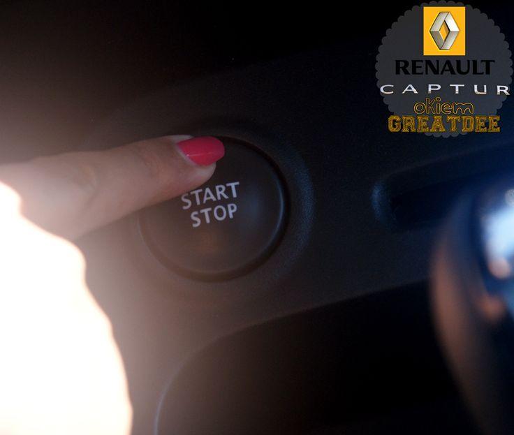 przycisk STOP zawsze przydatny #kampaniaRenaultCaptur http://blog.greatdee.pl/greatdee-czterech-kolkach-przygoda-renault-captur/